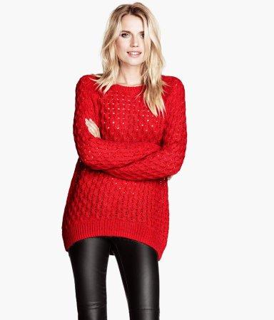 d96b81f8c0 Piros, hosszú pulóver (H&M – 5 990 Ft). f&f szürke gömbös